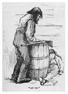 huck and pap relationships in huckleberry The relative neglect of the raftsmen's passage in huckleberry finn  the early  scenes with huck and jim may essentially be read as a narra-  context of  huck's own troubled relationship with parental figures, espe.